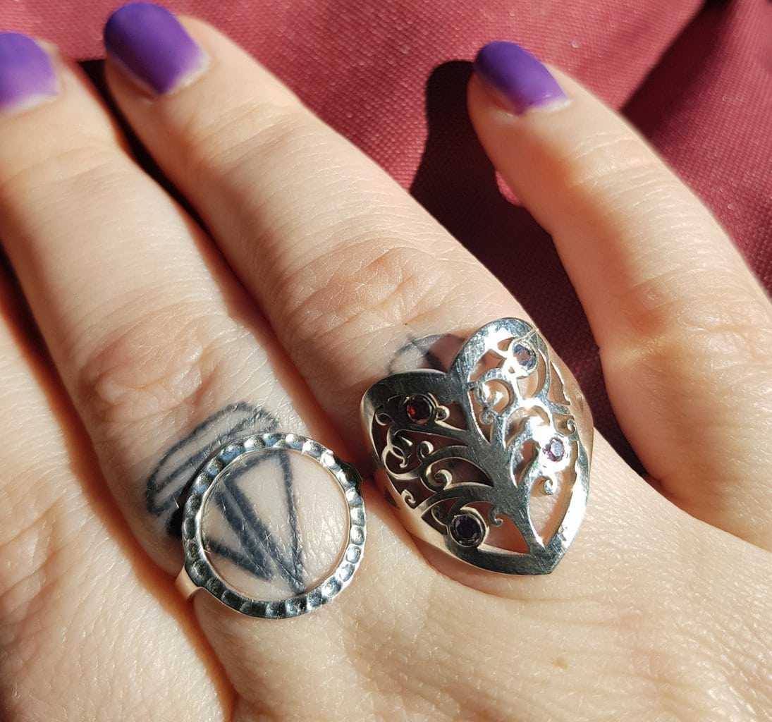 personalised Onecklace ring